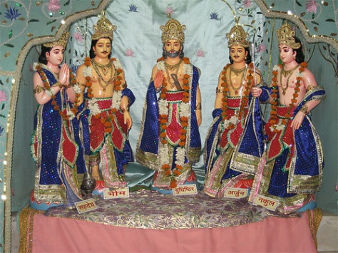 The five Pandava Brothers in the Mahabharata epic