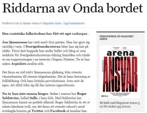 Dagens Arena 4 maj, 2016