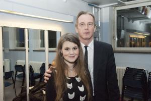 Med Tanja Bergkvist i jan 2014 om talade om genusvansinnet vid Fri Folkbildnings föredrag i Alviks Medborgarhus
